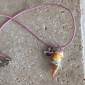 Little Girl Ice Cream Cone & Unicorn Necklace